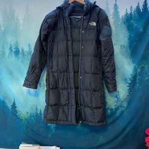 The North Face women's black parka puffer jacket